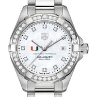 Miami Women's TAG Heuer Steel Aquaracer with MOP Diamond Dial & Diamond Bezel