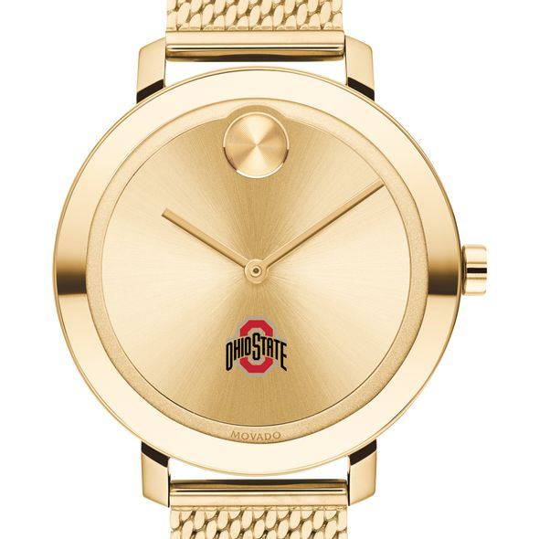 Ohio State Women's Movado Bold Gold with Mesh Bracelet - Image 1