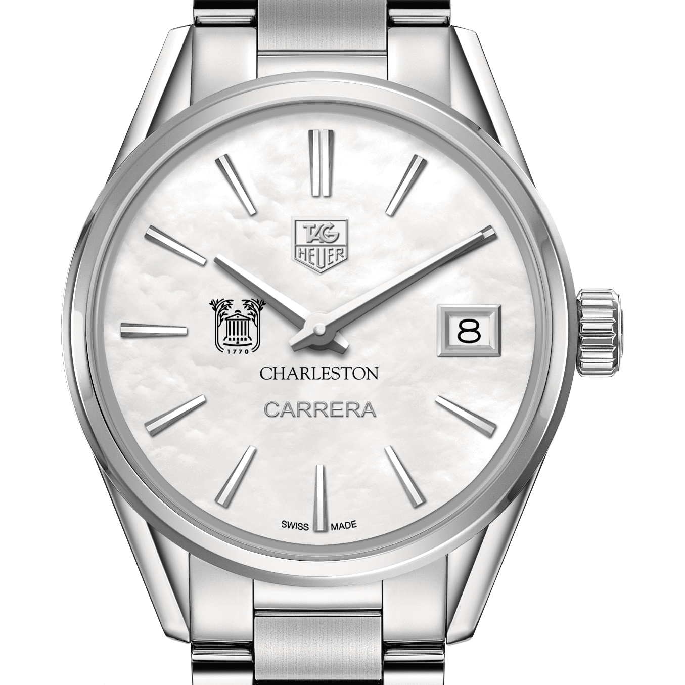 College of Charleston Women's TAG Heuer Steel Carrera with MOP Dial