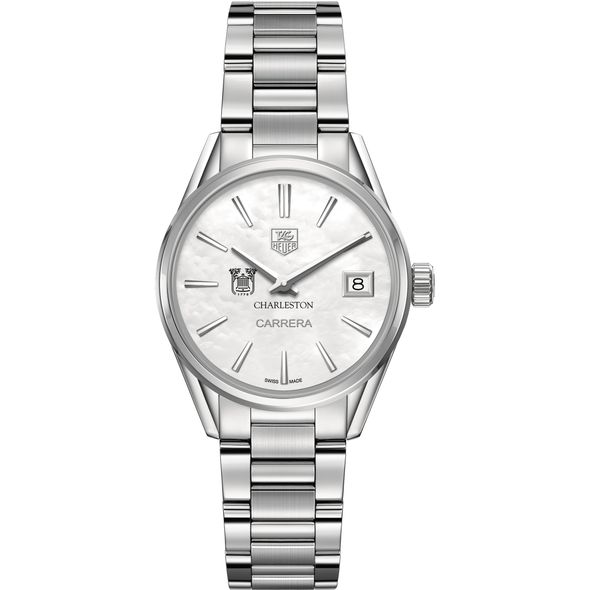 College of Charleston Women's TAG Heuer Steel Carrera with MOP Dial - Image 2