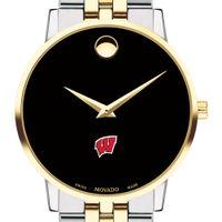 Wisconsin Men's Movado Two-Tone Museum Classic Bracelet