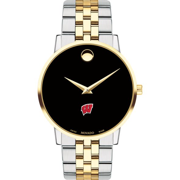 Wisconsin Men's Movado Two-Tone Museum Classic Bracelet - Image 2