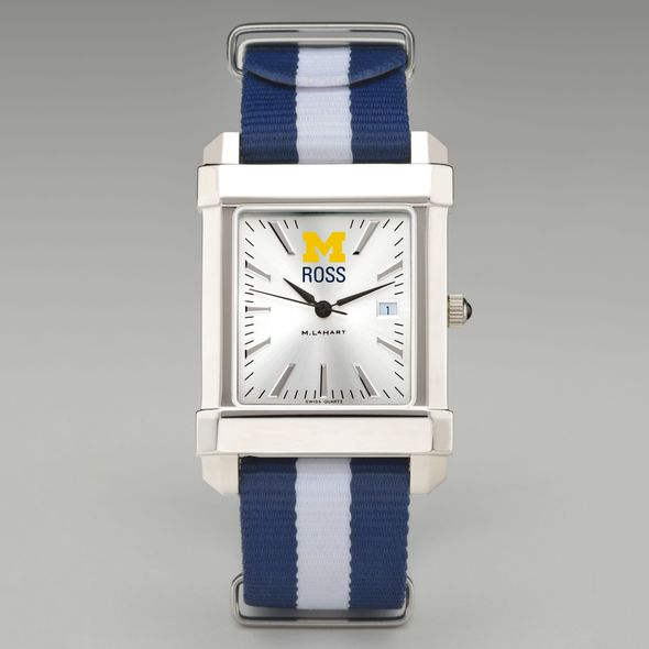 Michigan Ross Collegiate Watch with NATO Strap for Men - Image 2