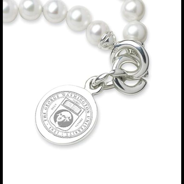 George Washington Pearl Bracelet with Sterling Silver Charm - Image 2
