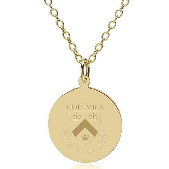 Columbia 18K Gold Pendant & Chain - Image 1