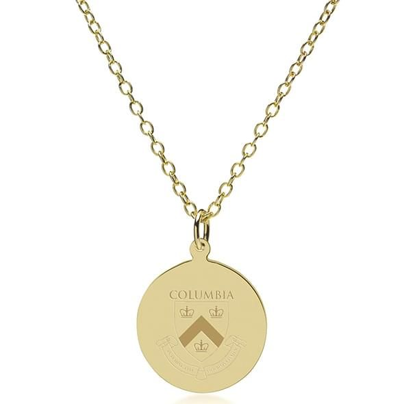 Columbia 18K Gold Pendant & Chain - Image 2