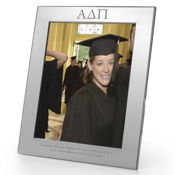 Alpha Delta Pi Polished Pewter Frame (Large 8x10) - Image 1