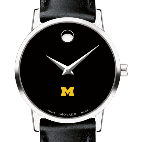 Michigan Women's Movado Museum with Leather Strap
