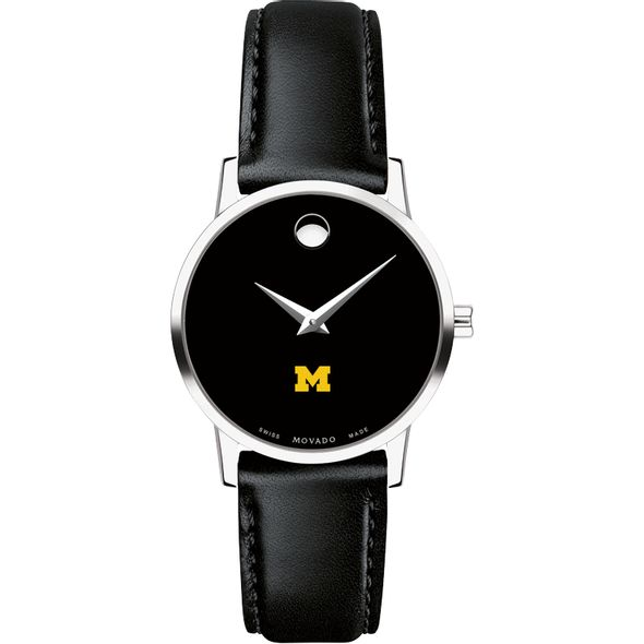 University of Michigan Women's Movado Museum with Leather Strap - Image 2