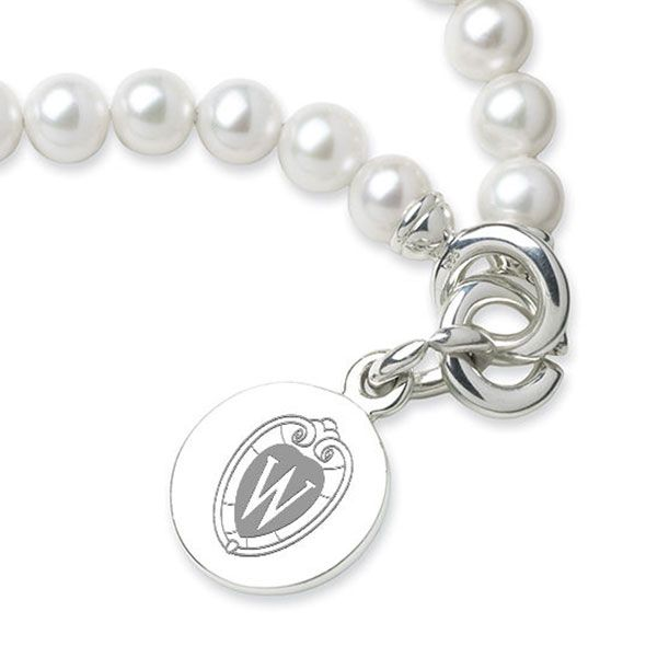 Wisconsin Pearl Bracelet with Sterling Silver Charm - Image 2