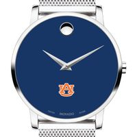 Auburn University Men's Movado Museum with Blue Dial & Mesh Bracelet