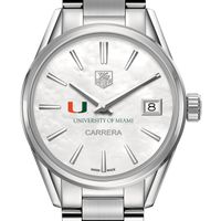 University of Miami Women's TAG Heuer Steel Carrera with MOP Dial