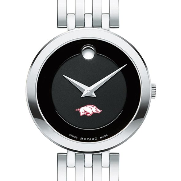 University of Arkansas Women's Movado Esparanza Stainless Steel Museum with Bracelet