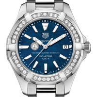 VMI Women's TAG Heuer 35mm Steel Aquaracer with Blue Dial