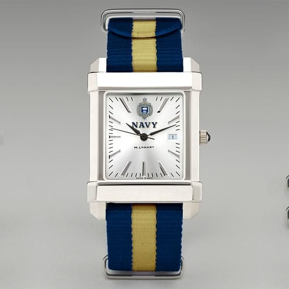 US Naval Academy Collegiate Watch with NATO Strap for Men - Image 2