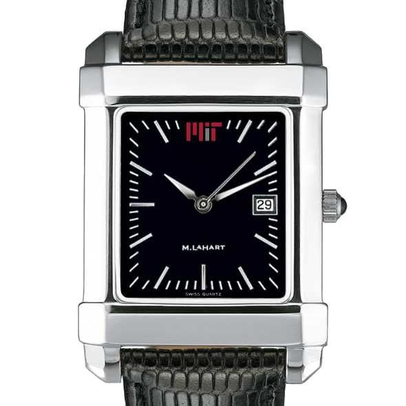 MIT Men's Black Quad Watch with Leather Strap