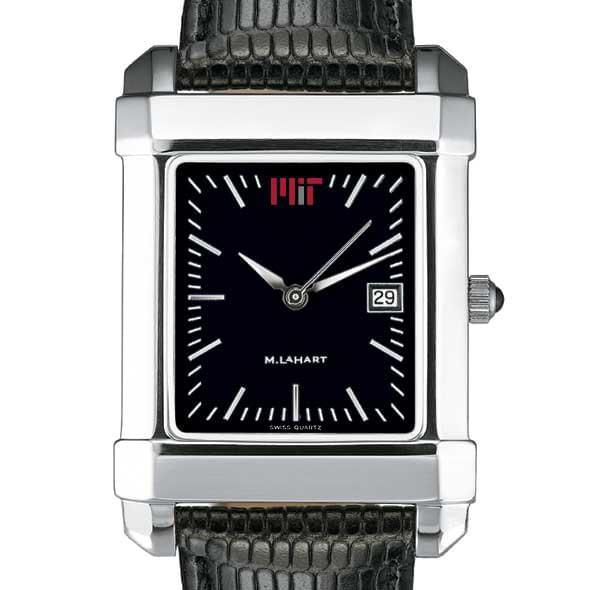 MIT Men's Black Quad Watch with Leather Strap