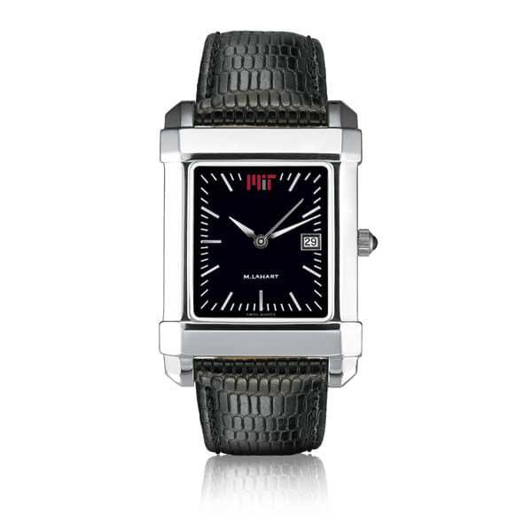 MIT Men's Black Quad Watch with Leather Strap - Image 2