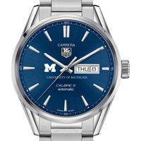 University of Michigan Men's TAG Heuer Carrera with Day-Date