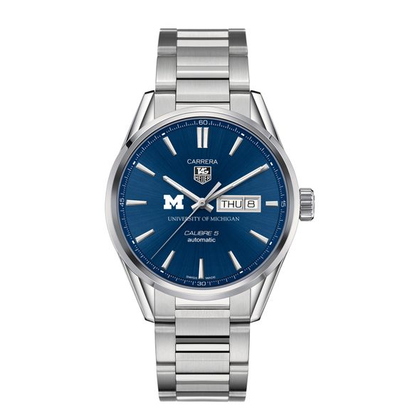 University of Michigan Men's TAG Heuer Carrera with Day-Date - Image 2