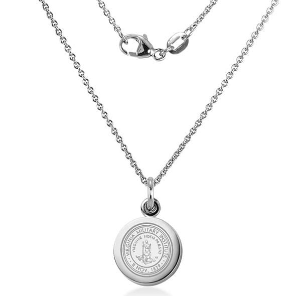 Virginia Military Institute Necklace with Charm in Sterling Silver - Image 2
