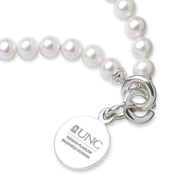 UNC Kenan-Flagler Pearl Bracelet with Sterling Silver Charm - Image 2
