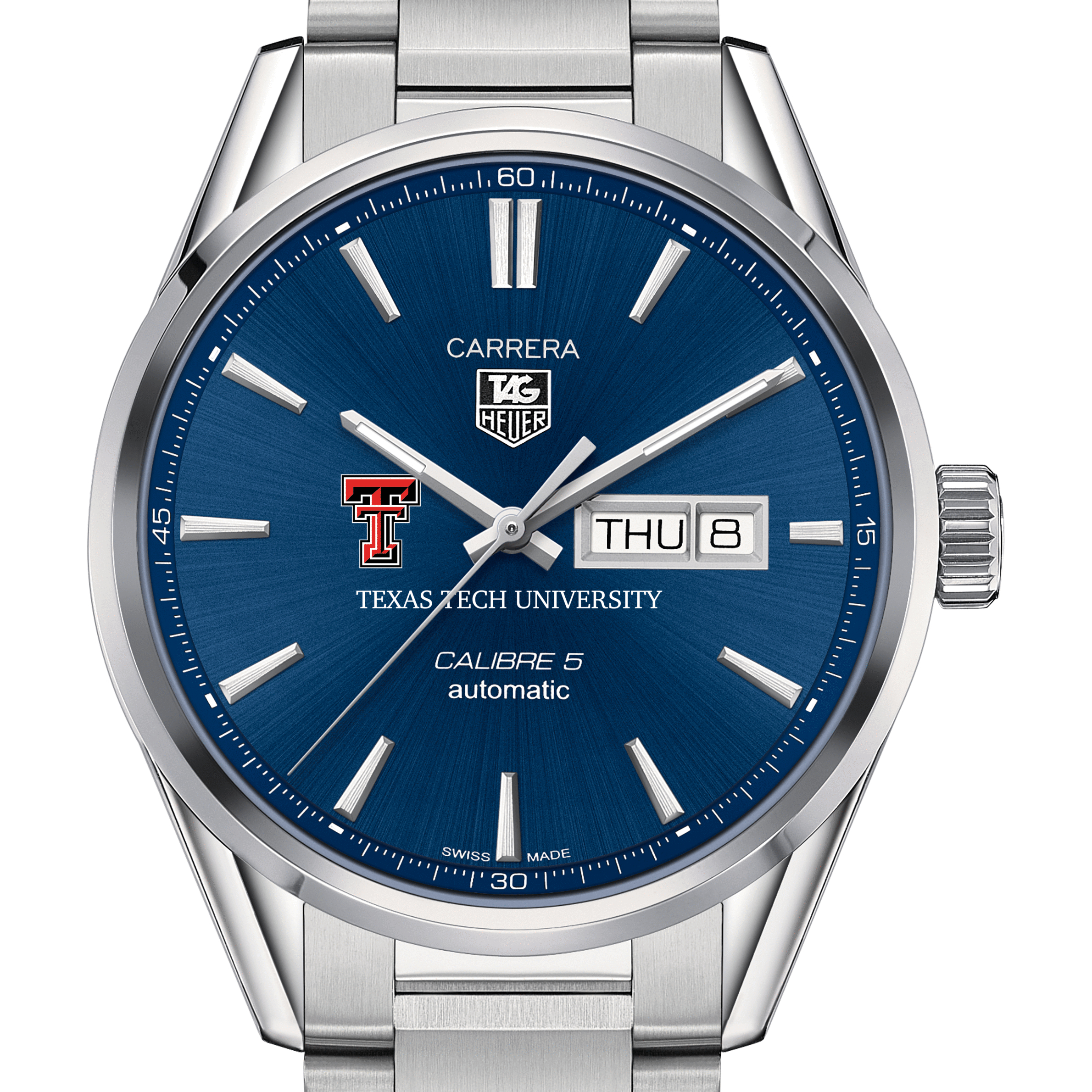 Texas Tech Men's TAG Heuer Carrera with Day-Date