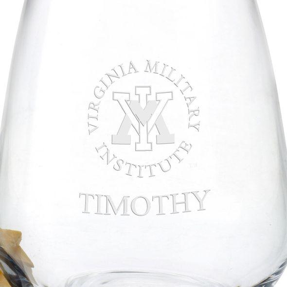 Virginia Military Institute Stemless Wine Glasses - Set of 4 - Image 3