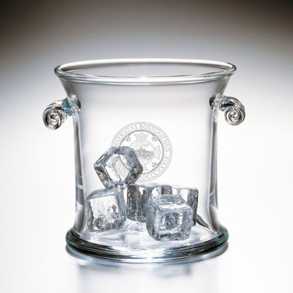 Boston University Glass Ice Bucket by Simon Pearce