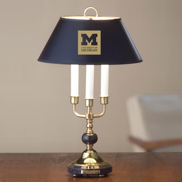 University of Michigan Lamp in Brass & Marble