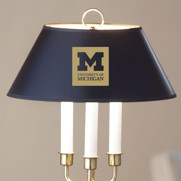 University of Michigan Lamp in Brass & Marble - Image 2
