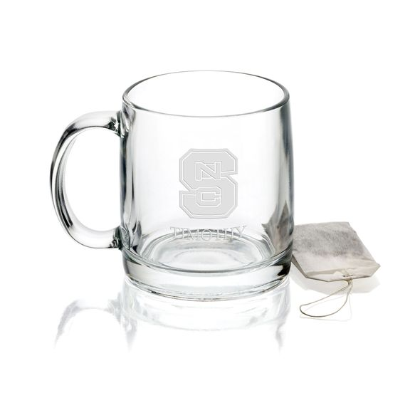 North Carolina State 13 oz Glass Coffee Mug - Image 1
