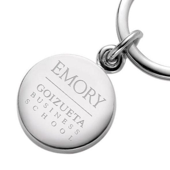 Emory Goizueta Sterling Silver Insignia Key Ring - Image 2