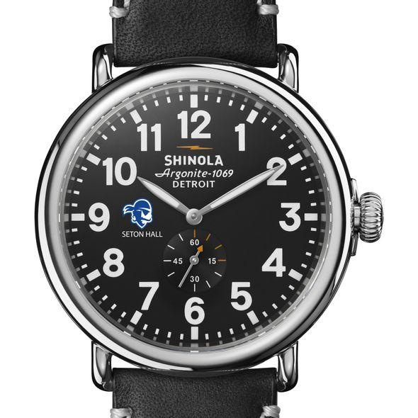 Seton Hall Shinola Watch, The Runwell 47mm Black Dial - Image 1