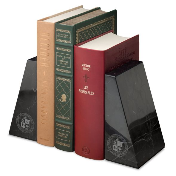 Virginia Tech Marble Bookends by M.LaHart