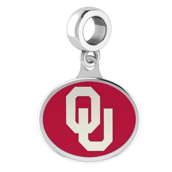 Oklahoma Round Enameled Drop Charm