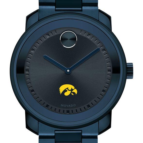 University of Iowa Men's Movado BOLD Blue Ion with Bracelet