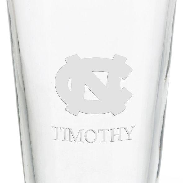University of North Carolina 16 oz Pint Glass - Image 3