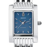 Brown Women's Blue Quad Watch with Bracelet