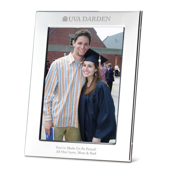 UVA Darden Polished Pewter 5x7 Picture Frame