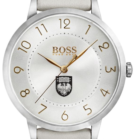 University of Chicago Women's BOSS White Leather from M.LaHart