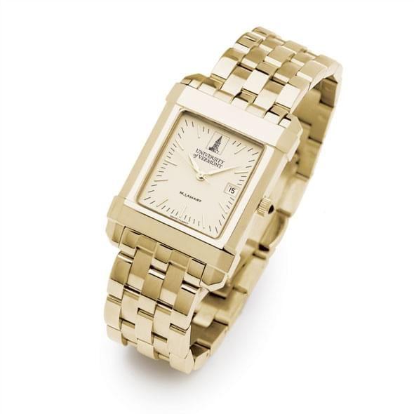 UVM Men's Gold Quad Watch with Bracelet - Image 2