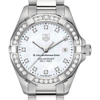 Columbia Business Women's TAG Heuer Steel Aquaracer with MOP Diamond Dial & Bezel