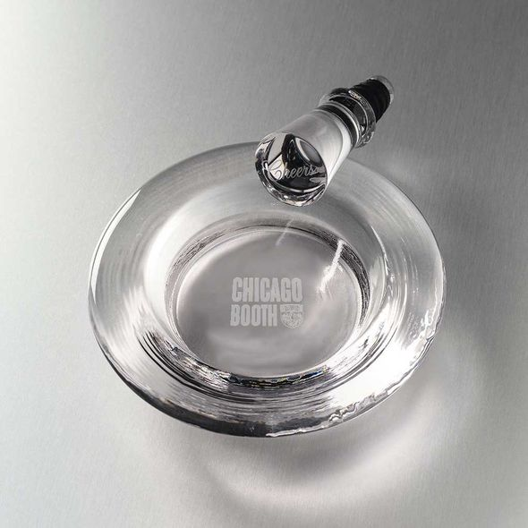 Chicago Booth Glass Wine Coaster by Simon Pearce