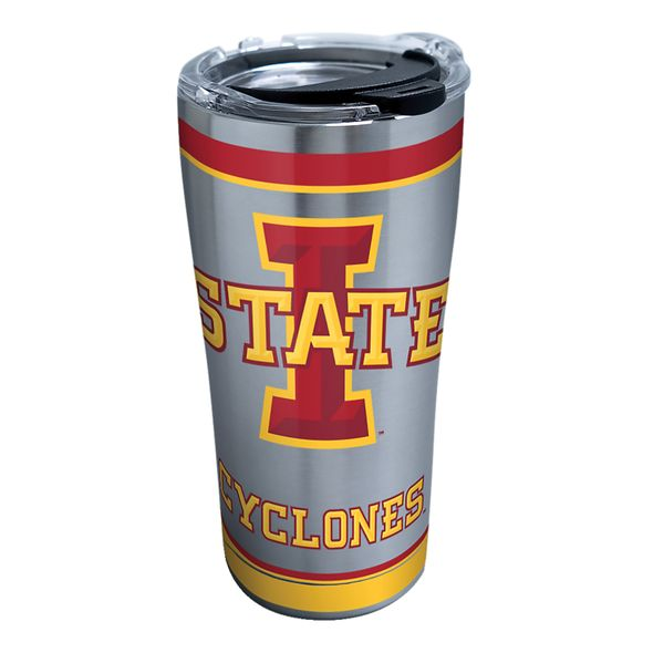 Iowa State 20 oz. Stainless Steel Tervis Tumblers with Hammer Lids - Set of 2 - Image 1