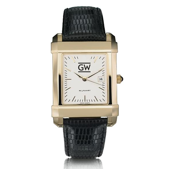 George Washington Men's Gold Quad with Leather Strap - Image 2