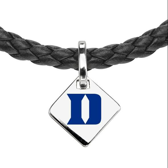 Duke Leather Necklace with Sterling Silver Tag - Image 2