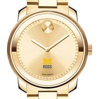 Michigan Ross Men's Movado Gold Bold