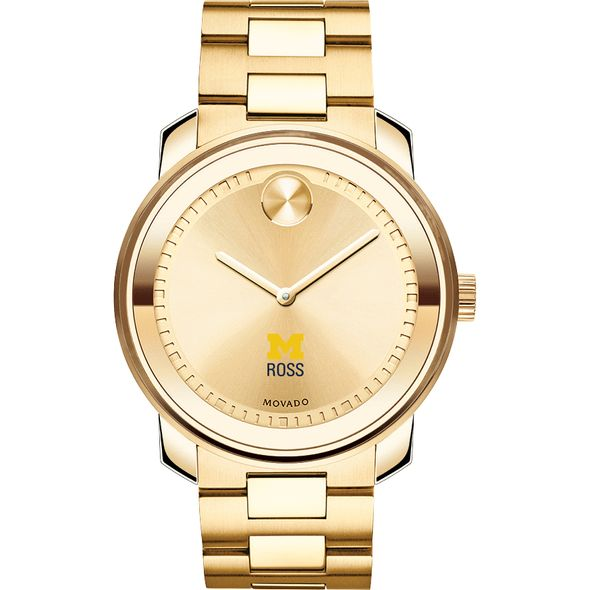 Michigan Ross Men's Movado Gold Bold - Image 2