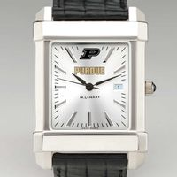 Purdue University Men's Collegiate Watch with Leather Strap